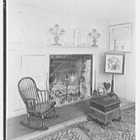 Mrs. Colin Ingersoll, residence in Salisbury, Connecticut. Living room, to fireplace