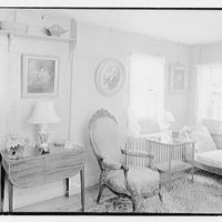 Mrs. Colin Ingersoll, residence in Salisbury, Connecticut. Living room, to window
