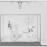 Mrs. H. Mercer Walker, residence in El Vedado, Palm Beach, Florida. Detail of glass hansom cab