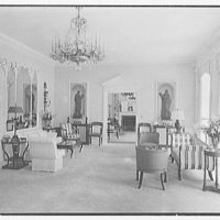 Mrs. H. Mercer Walker, residence in El Vedado, Palm Beach, Florida. Living room, toward morning room