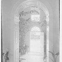 Mrs. H. Mercer Walker, residence in El Vedado, Palm Beach, Florida. Looking out front door I