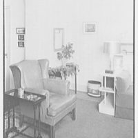 Mrs. L. Pye, residence at 148 Willow St., Brooklyn, N.Y. Corner, with leather chair