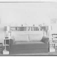 Mrs. L. Pye, residence at 148 Willow St., Brooklyn, N.Y. Striped couch
