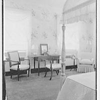 Mrs. Nicholas Rutgers, residence on Navesink Rd., Red Bank, New Jersey. Pink guest room
