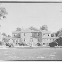 Mrs. Richard M. Tobin, residence in Syosset, Long Island. Entrance facade