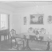 Mrs. Robert Osburn, residence on Deer Park Rd., New Canaan, Connecticut. Dining room