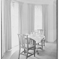 Mrs. Schoolfield Grace, residence on Overlook Rd., Locust Valley, Long Island. Breakfast bay, in dining room