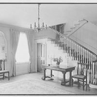 Mrs. Schoolfield Grace, residence on Overlook Rd., Locust Valley, Long Island. Entrance hall