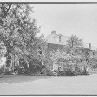 Mrs. Schoolfield Grace, residence on Overlook Rd., Locust Valley, Long Island. Garden facade from right