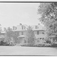 Mrs. Schoolfield Grace, residence on Overlook Rd., Locust Valley, Long Island. Garden facade from left