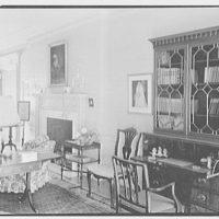 Mrs. Schoolfield Grace, residence on Overlook Rd., Locust Valley, Long Island. Living room secretary, detail
