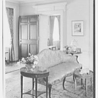 Mrs. Schoolfield Grace, residence on Overlook Rd., Locust Valley, Long Island. Living room sofa detail