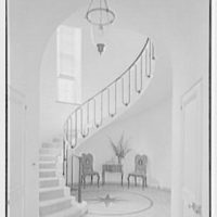 Mrs. Stanley Martineau, residence in Locust Valley, Long Island. Staircase