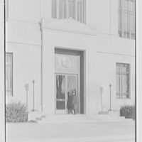 National Fire Group, Hartford, Connecticut. Main facade, entrance detail, with Arthur, a.m.