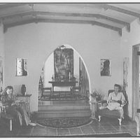 N.E. Hayes, residence on N.E. 10th Ave. and 86th St., Miami Beach, Florida. Dining room, from living room