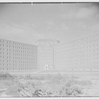 Pilgrim State Hospital, Brentwood, Long Island. Building no. 81, general view from south