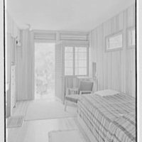 Robert Glassford, residence in Hobe Sound, Florida. Guest room type I, general view