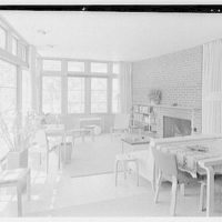 Robert Glassford, residence in Hobe Sound, Florida. Living room, to fireplace