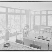 Robert Glassford, residence in Hobe Sound, Florida. Living room, to window