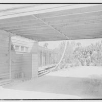 Robert Glassford, residence in Hobe Sound, Florida. Portcochere, looking through
