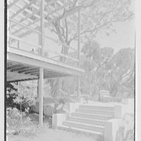 Robert Glassford, residence in Hobe Sound, Florida. Steps up to terrace