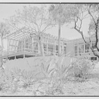Robert Glassford, residence in Hobe Sound, Florida. Terrace corner, from right