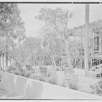 Robert Glassford, residence in Hobe Sound, Florida. Terrace from south, toward sound