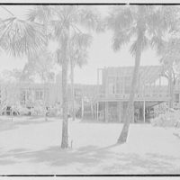 Robert Glassford, residence in Hobe Sound, Florida. West facade from center, noon