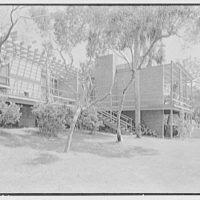 Robert Glassford, residence in Hobe Sound, Florida. West facade, guest wing, toward terrace