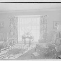 Rodney E. Boone, residence on Elderfield Rd., Manhasset, Long Island. Living room window