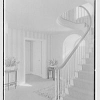 Rodney E. Boone, residence on Elderfield Rd., Manhasset, Long Island. Staircase