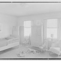 Rodney E. Boone, residence on Elderfield Rd., Manhasset, Long Island. Younger boy's room