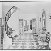 Rufus W. Scott, residence on Via Del Lago, Palm Beach, Florida. Entrance hall