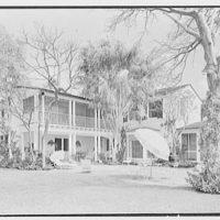 Rufus W. Scott, residence on Via Del Lago, Palm Beach, Florida. Garden facade, general