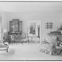 Rufus W. Scott, residence on Via Del Lago, Palm Beach, Florida. Living room, to hall