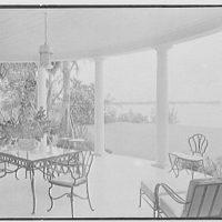 Sam H. Harris, residence at Arabian Ave. and Lakeway, Palm Beach, Florida. Loggia I
