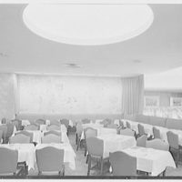 Schrafft's, Broadway and 43rd St., New York City. Second floor dining room, to mural