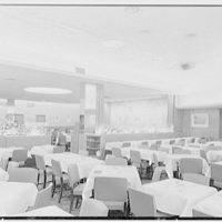 Schrafft's, Broadway and 43rd St., New York City. Second floor dining room, to rear
