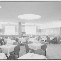 Schrafft's, Broadway and 43rd St., New York City. Second floor dining room, to stairs