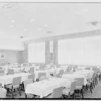 Schrafft's, Broadway and 43rd St., New York City. Second floor dining room, to windows