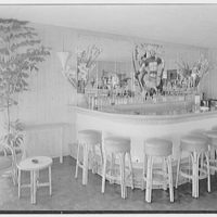 South Ocean Club, Palm Beach, Florida. Bar, detail