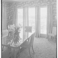 Theodore D. Buhl, residence on Island Rd., Palm Beach, Florida. Dining room, to window