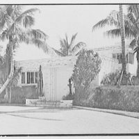 Theodore D. Buhl, residence on Island Rd., Palm Beach, Florida. Entrance facade