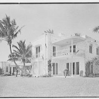 Theodore D. Buhl, residence on Island Rd., Palm Beach, Florida. General lake facade