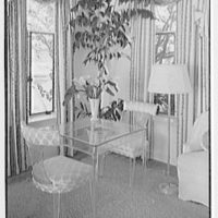 Theodore D. Buhl, residence on Island Rd., Palm Beach, Florida. Living room, game table