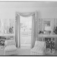 Theodore D. Buhl, residence on Island Rd., Palm Beach, Florida. Living room, vista to loggia