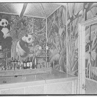 Theodore D. Buhl, residence on Island Rd., Palm Beach, Florida. Loggia bar
