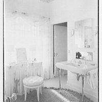 Theodore D. Buhl, residence on Island Rd., Palm Beach, Florida. Master bathroom II