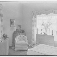 Theodore D. Buhl, residence on Island Rd., Palm Beach, Florida. Master bedroom window and commode