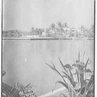 Theodore D. Buhl, residence on Island Rd., Palm Beach, Florida. View from across lake at C.H. Buhl's